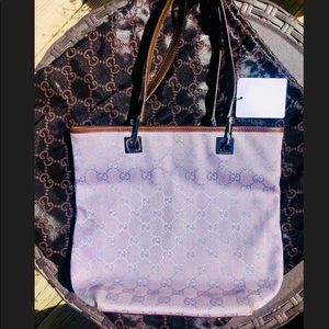 Gucci Guccissima Purple Canvas Mini Tote Bag